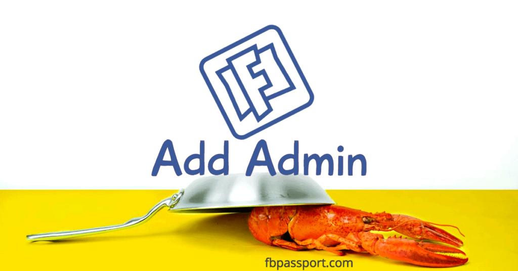 facebook page add admin