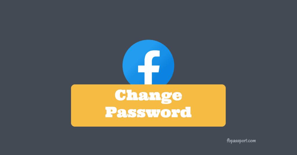 change reset facebook password